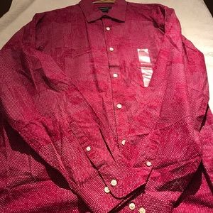 New mens long sleeve button down size large